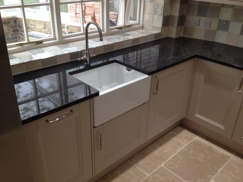 Cottage Kitchen Wooden Floor Belfast Sink